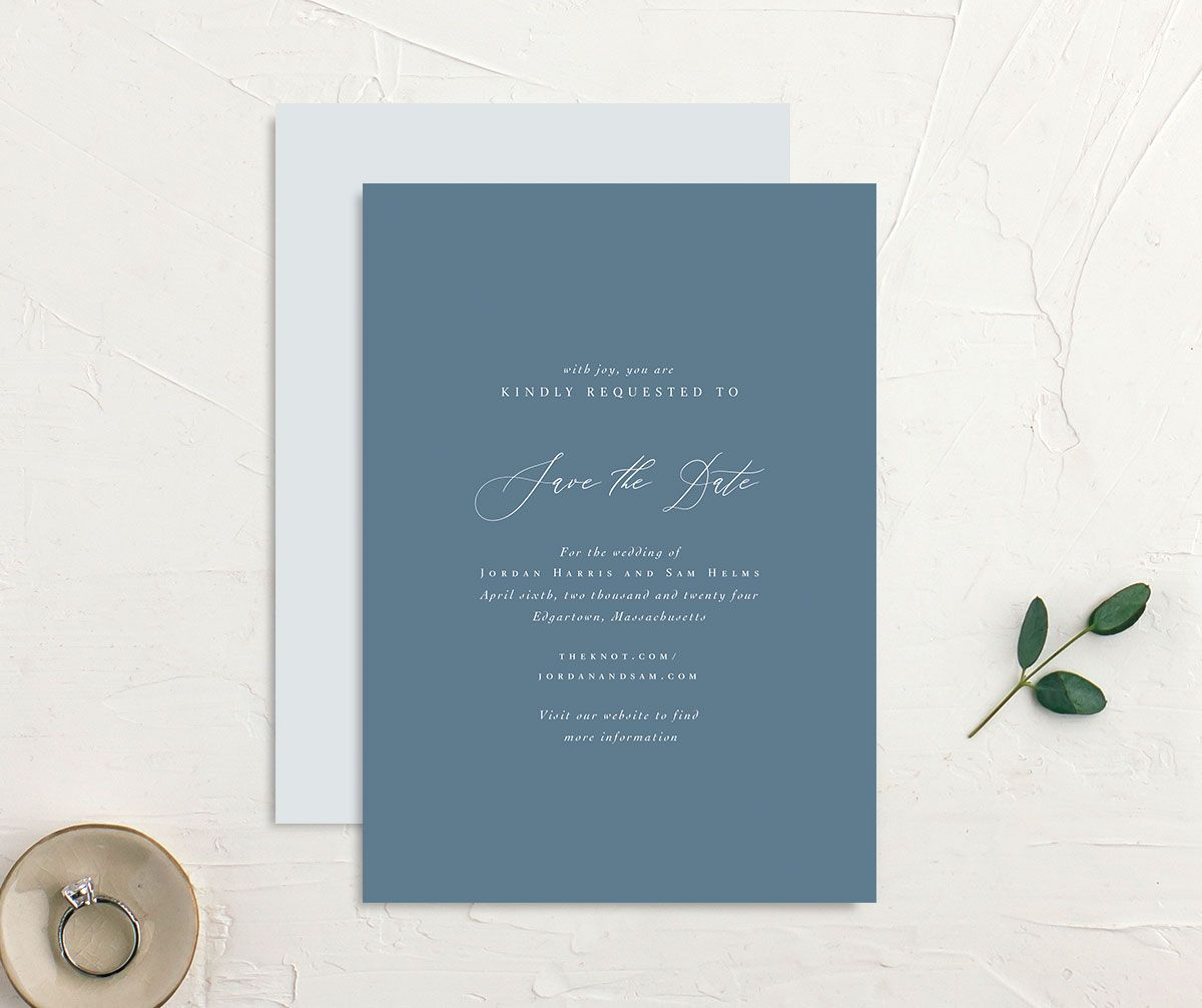 Blue Save the Dates Blue Save the Date Card DEPOSIT Wedding Save the Date Cards
