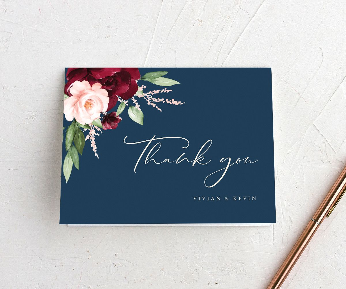 Beloved Floral Thank You Card in multi