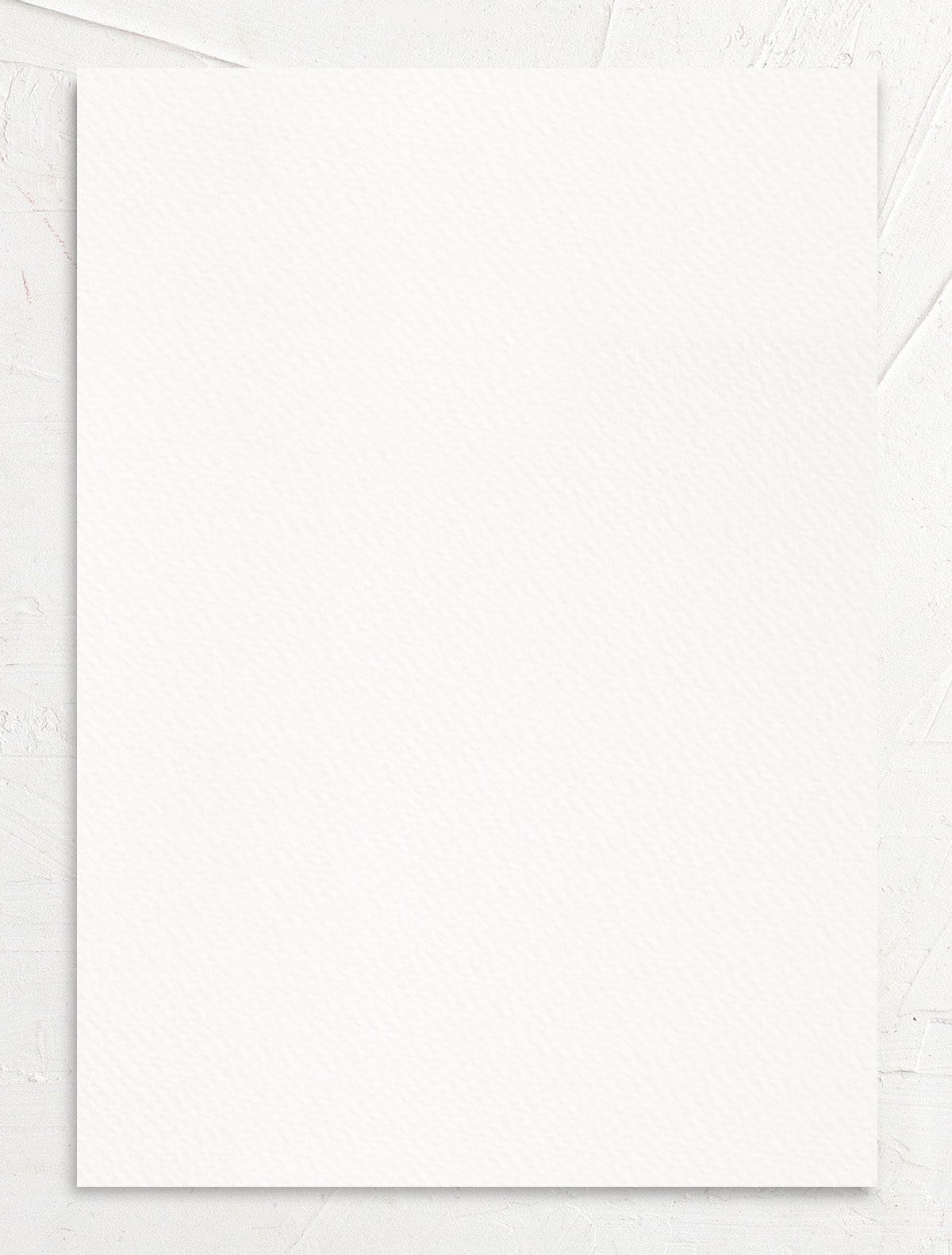 Exquisite Calligraphy Wedding Invitation back in white