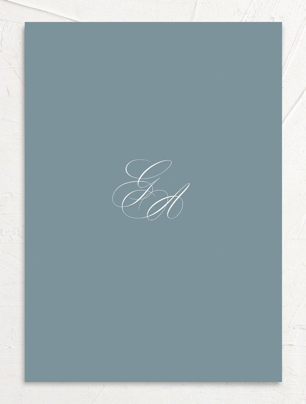 Elegant Photograph wedding invitation back in white