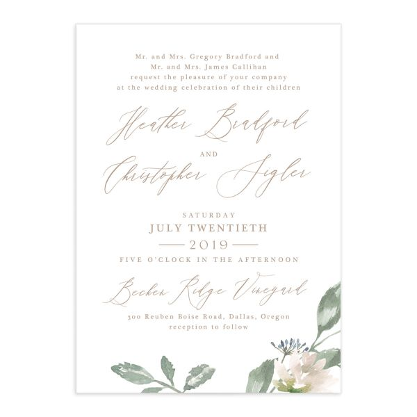 Dusted Calligraphy invite pink