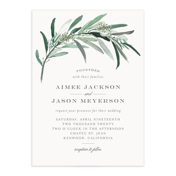 Lush Greenery invitation