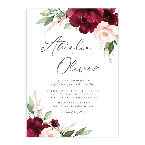 Beloved Floral Wedding Invitations