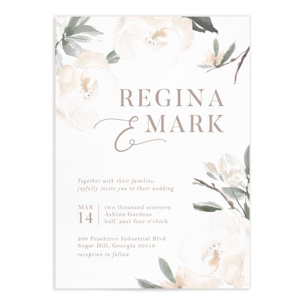 Elegant Garden Wedding Invitations