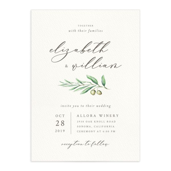 Painted Winery Wedding Invitations