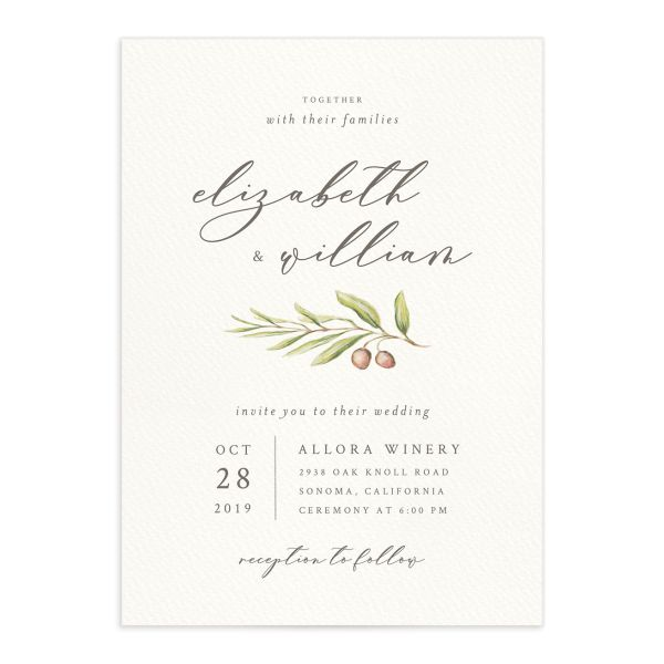 Painted Winery wedding invitation