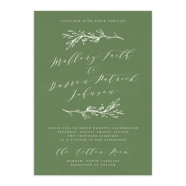rustic elegance wedding invitations
