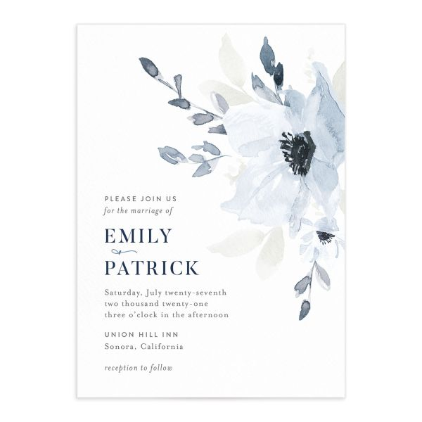 Shades of Blue Wedding Invitations