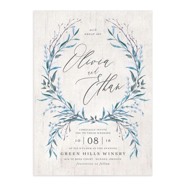 Natural Laurel wedding invitations