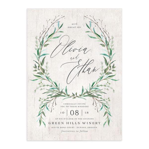 Natural Laurel Wedding Invitations