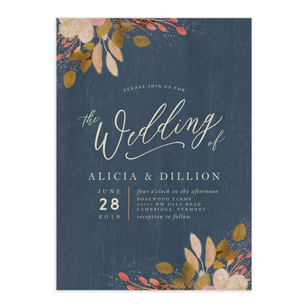 Rustic Leaves Wedding Invitations
