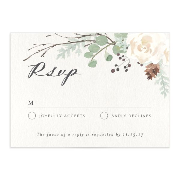 Rustic Botanical RSVP cards
