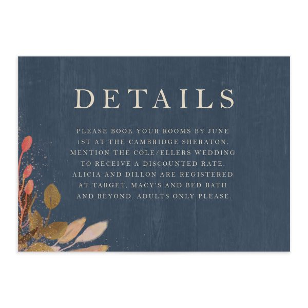Rustic Leaves Wedding Enclosure Cards