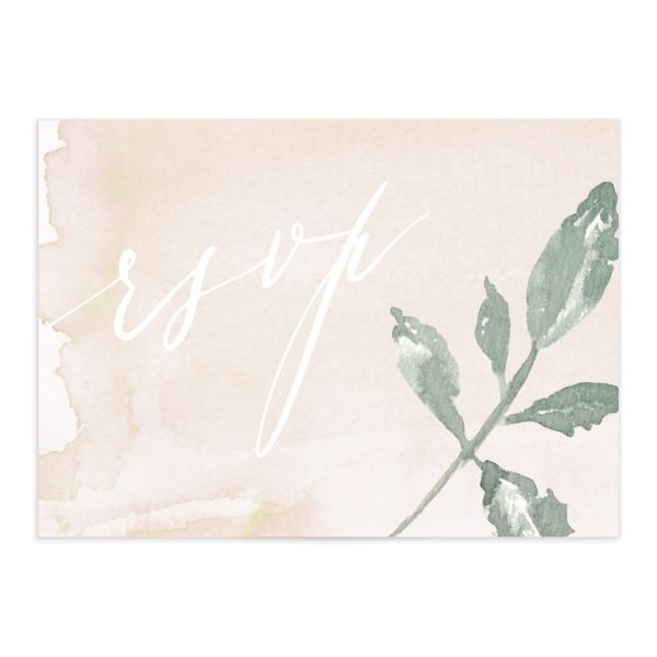 Dusted Calligraphy RSVP cards in pink merch