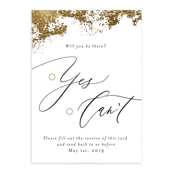 elegant organic wedding rsvp cards