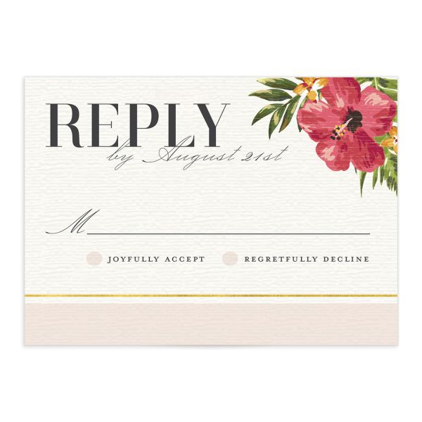 elegant paradise wedding rsvp cards