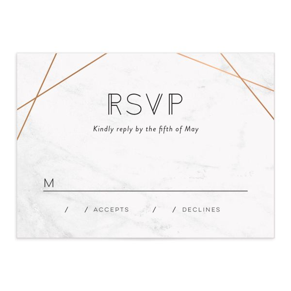 Geometric Marble wedding rsvp cards