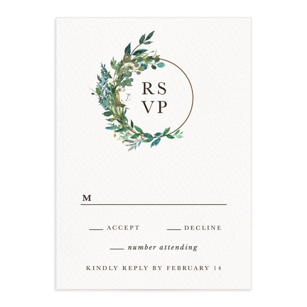 Leafy Hoops Wedding Response Cards