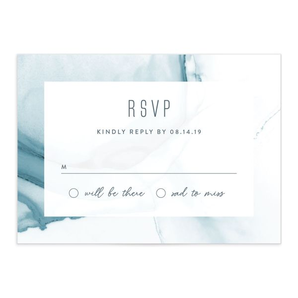 modern wave wedding rsvp cards