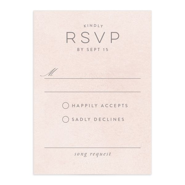painted desert wedding response cards in pink