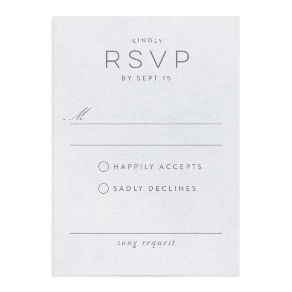 painted desert wedding response cards in purple