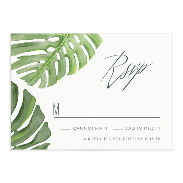 Romantic Palm RSVP card