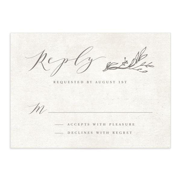 rustic elegance wedding RSVP cards