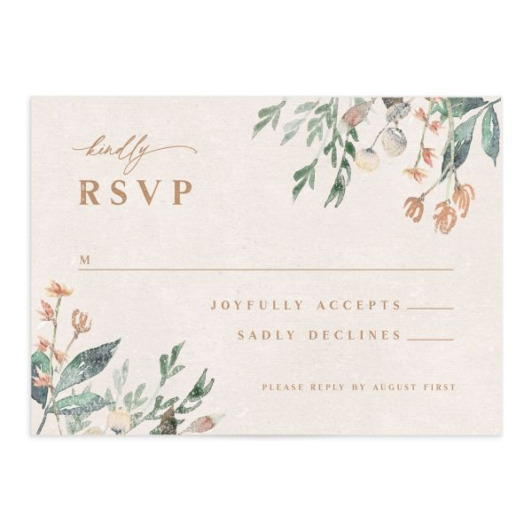 Rustic Vines rsvp card