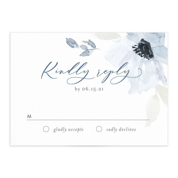 Shades of Blue Wedding RSVP cards