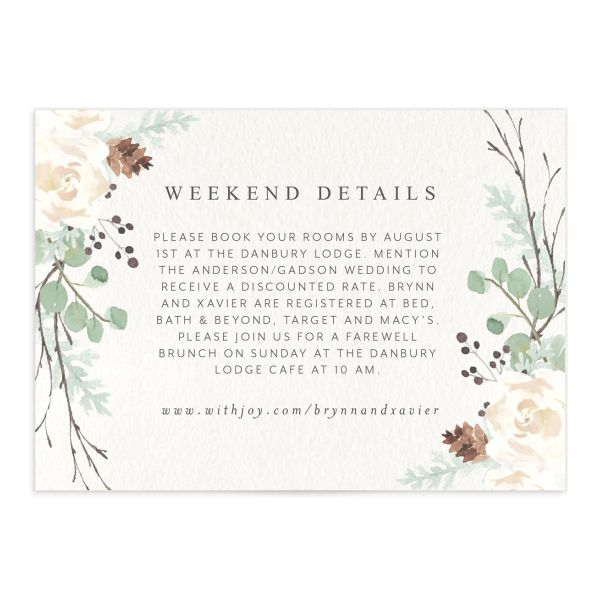 Rustic Botanical Wedding Enclosure Cards