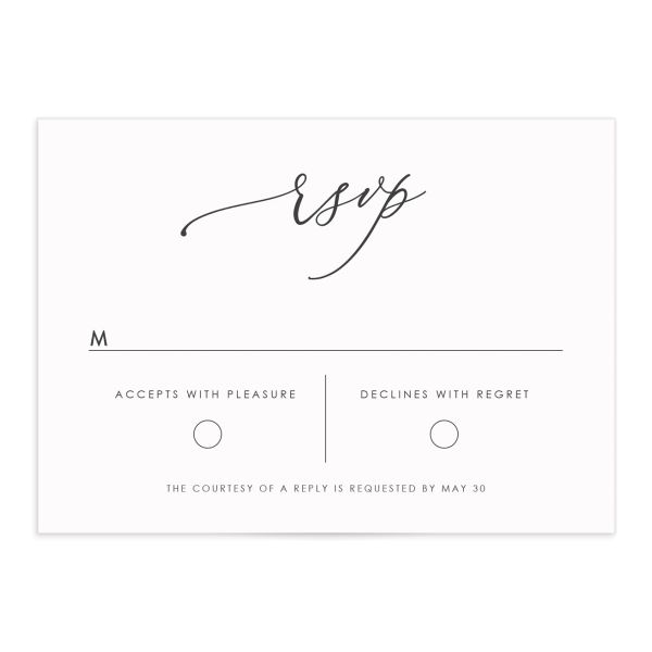 Blooming Botanical Wedding Response Cards