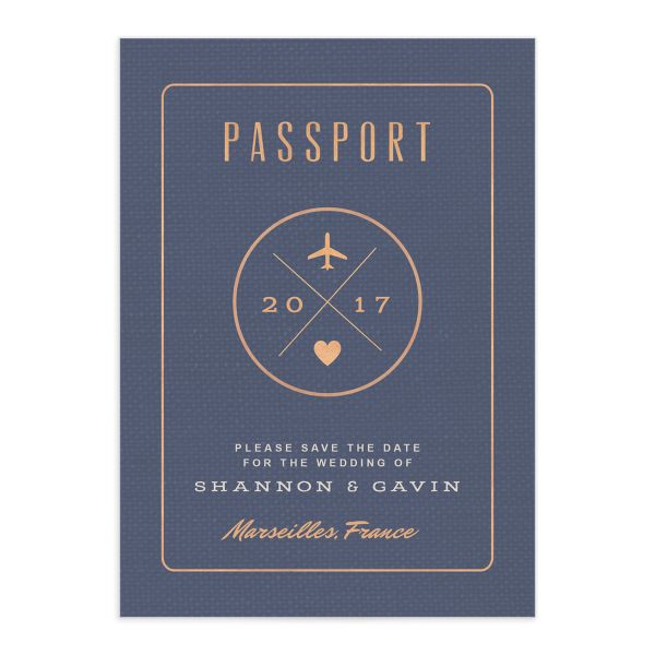 Custom Passport save the date front
