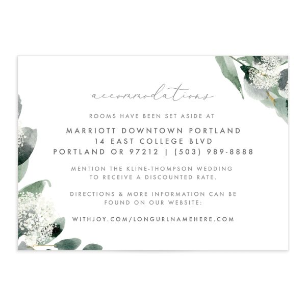 Elegant greenery enclosure card