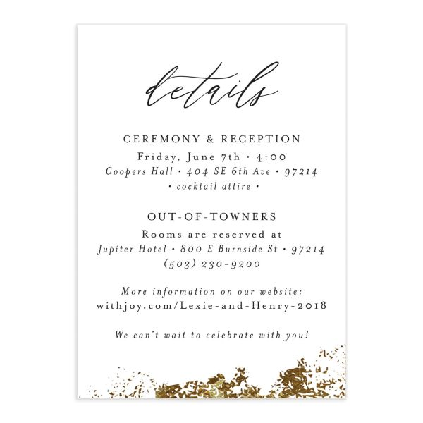 elegant organic wedding enclosure cards