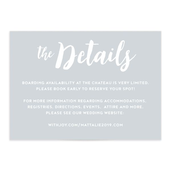 Wintry Floral Wedding Enclosure Cards front