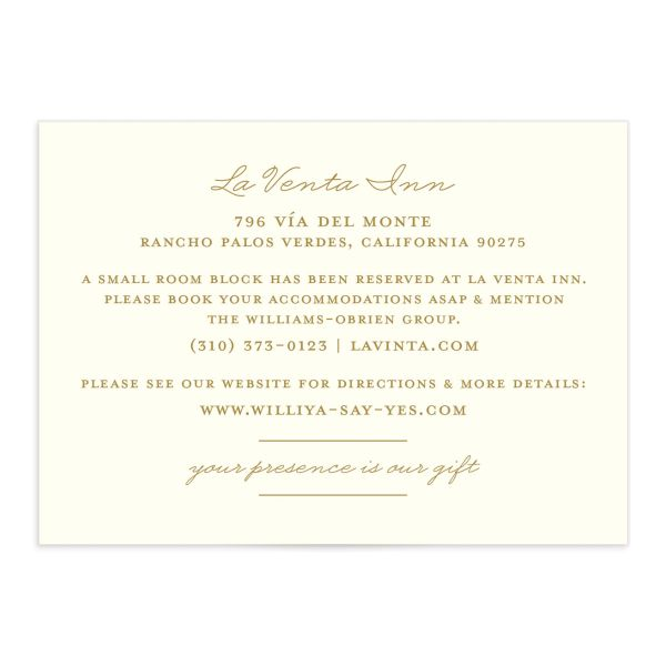 Elegant Oasis Wedding Enclosure cards front