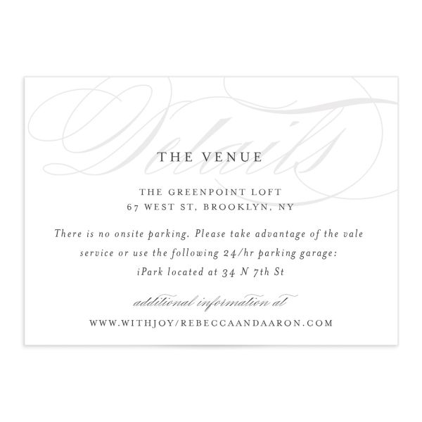 elegantly initialed wedding enclosure cards
