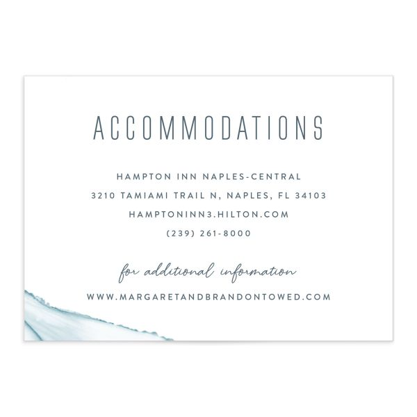modern wave wedding enclosure cards