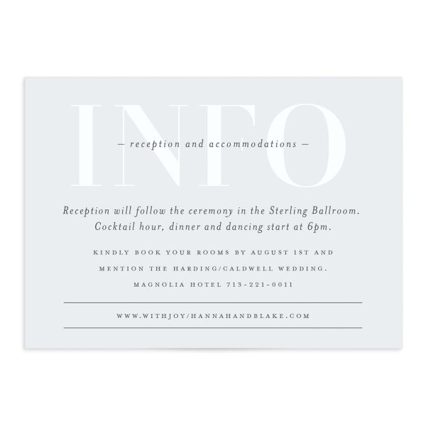 Monogram Wedding Enclosure Cards