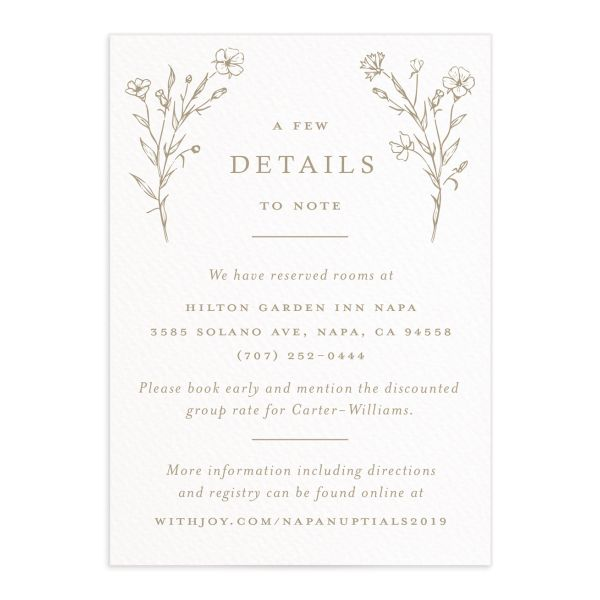 Natural Monogram enclosure card in tan
