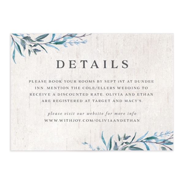 Natural Laurel enclosure card