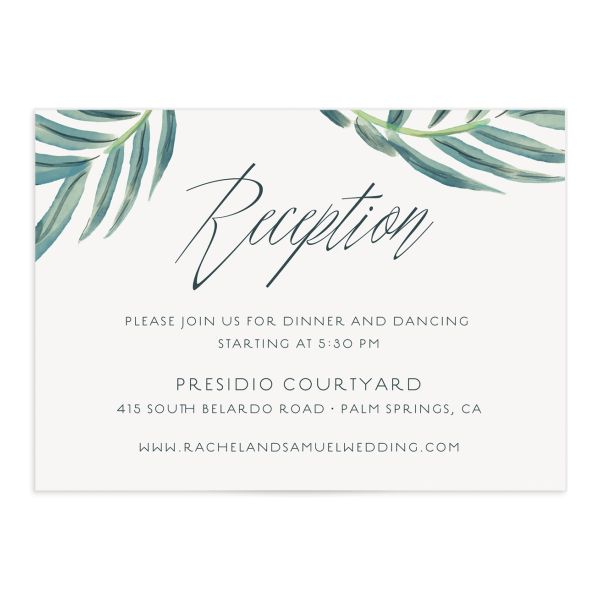 Romantic Palm enclosure card