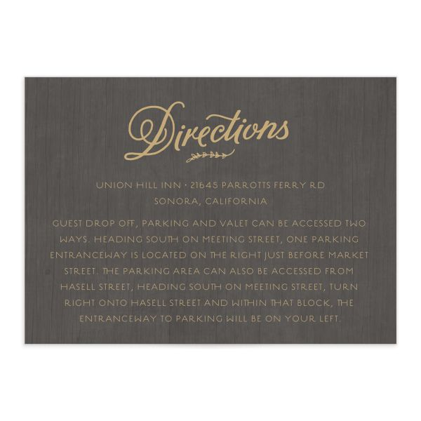 rustic chic wedding enclosure cards in gold