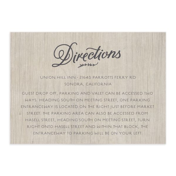 rustic chic wedding enclosure cards in grey