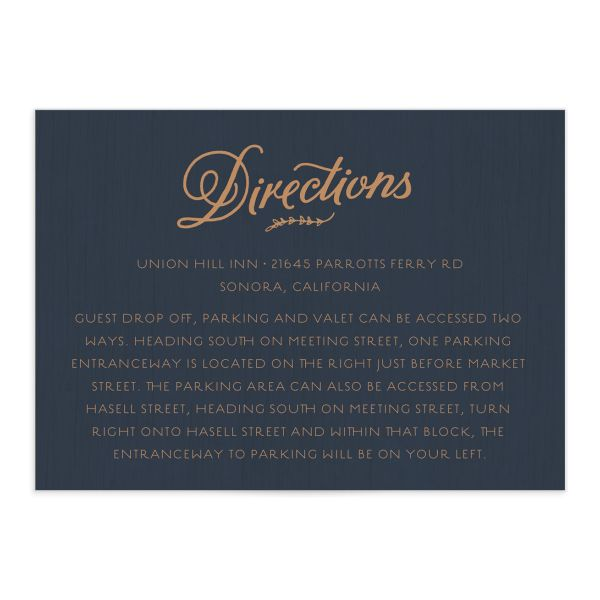 rustic chic wedding enclosure cards in navy