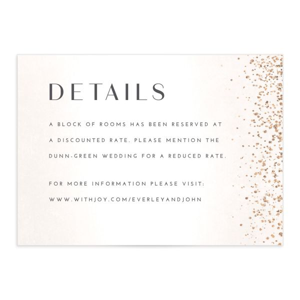 Sparkling Romance enclosure card