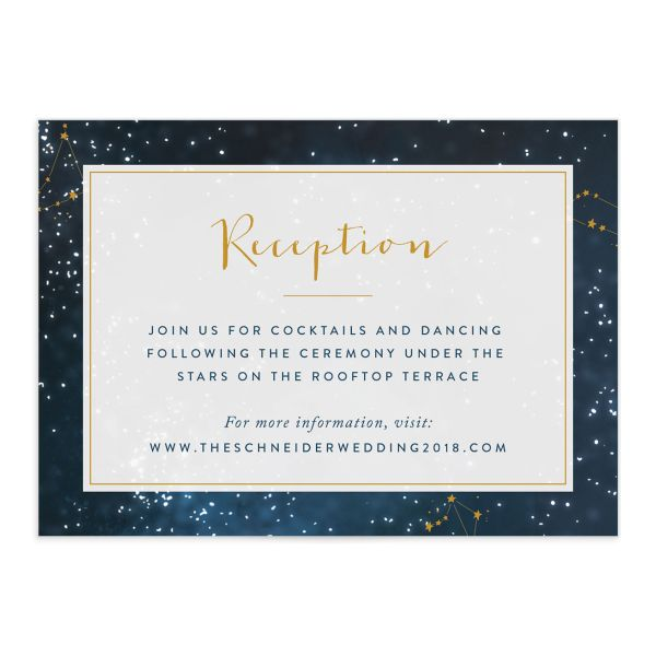 starry night wedding enclosure cards