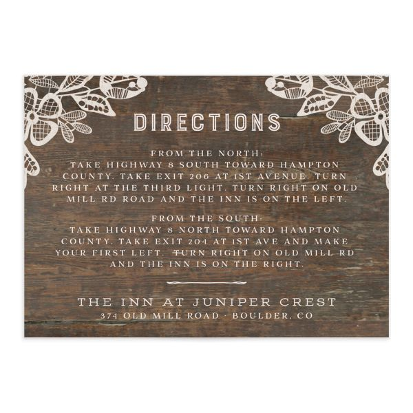 Woodgrain Lace enclosure card