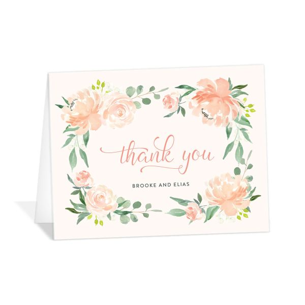 Romantic Floral Wedding Thank You Cards
