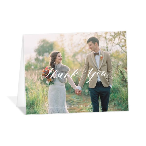 Rustic Botanical Wedding Thank You Cards